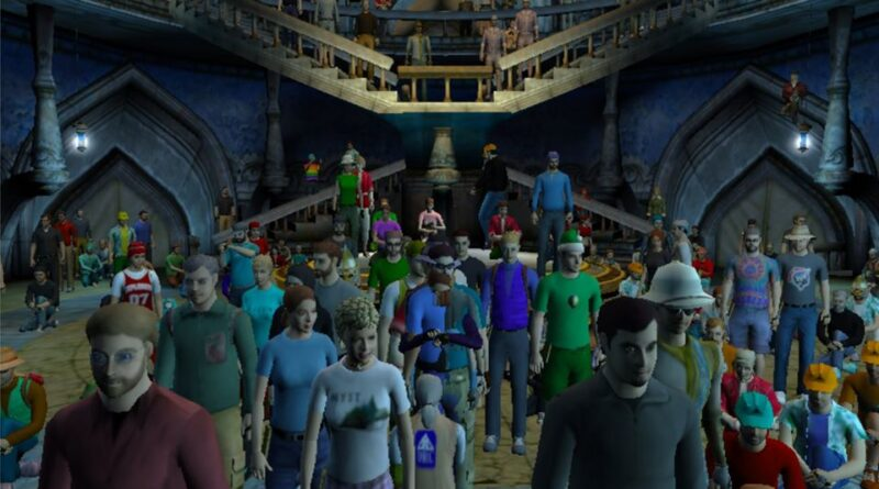 Crowd in the Watcher's Pub